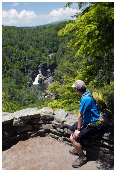 Adam Enjoys a View of Linville Falls