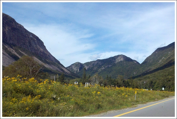 Driving into Franconia Notch
