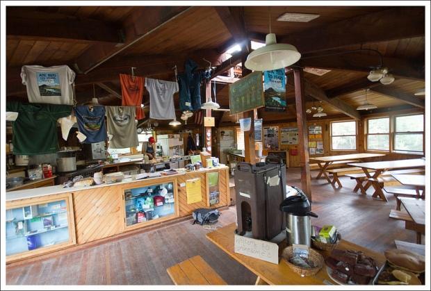 Inside Lonesome Lake Hut