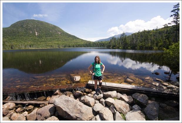 Christine Enjoys the Lake