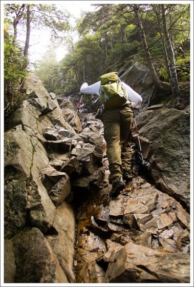 Adam Climbs Agony Ridge