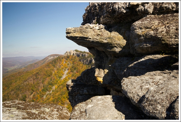 I thought this rock formation near chimney rock looked like a tortoise.