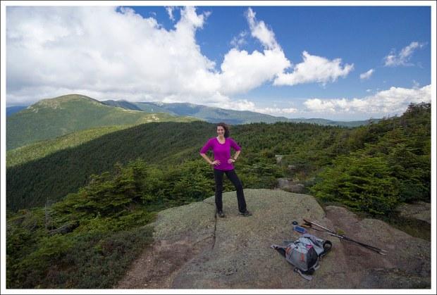 Christine on the Summit of Pierce