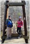 Adam and Christine on the footbridge