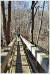 Adam Crossing the Tye River Footbridge