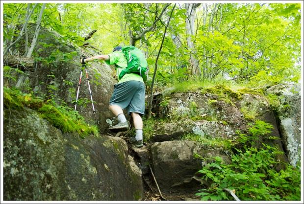Climbing to Flume Knob