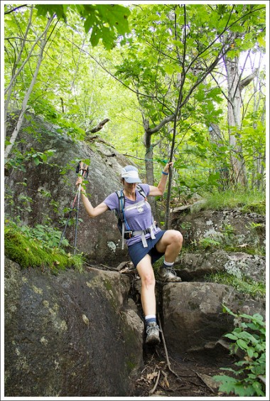 Rock Scramble with Rope