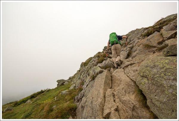 Climbing Mt. Monroe