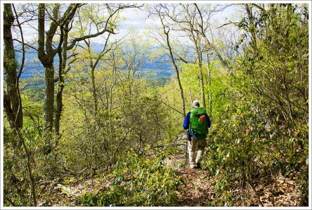 Hiking Roaring Run Gap