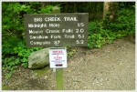 Trailhead Sign for Mouse Creek Falls