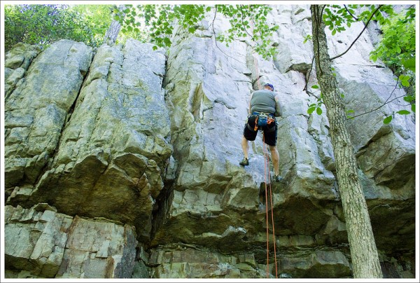 Rock Climber at Hidden Rocks