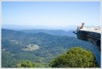 Sitting on McAfee Knob