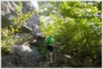 Climbing to Artist Bluff