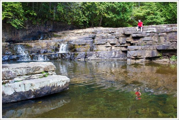 Adam Sits Atop Dismal Falls