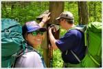 Kris and Adam sign the AT log