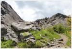 Kris tackling rocky AT terrain