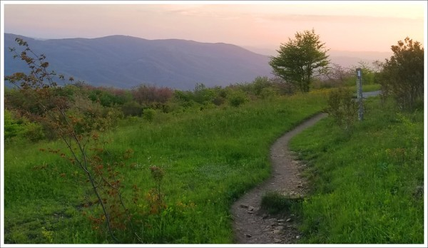 Sunset on the Appalachian Trail