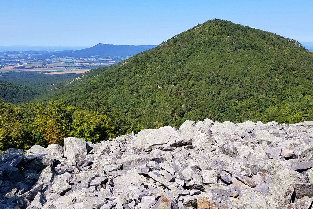 View from Rockytop -looking toward Lewis Peak and Massanutten.